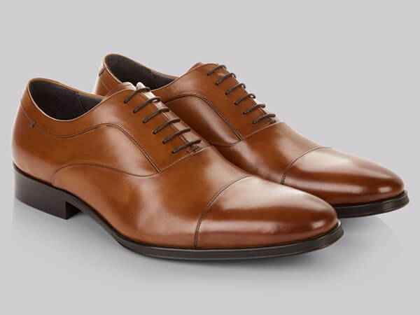 Tan oxford shoes from Moss Bros