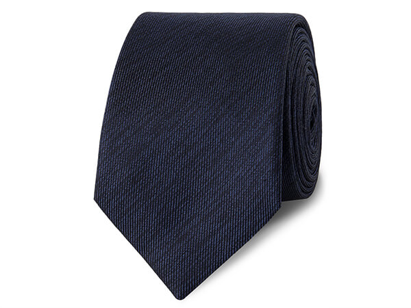 Navy Textured 100% Silk Tie from TM Lewin